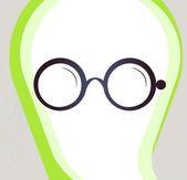 Glasses. Retro-style emblem, icon, pictogram. EPS 10 vector — Stock Vector