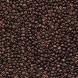 Coffee beans seamless pattern background — Stock Vector