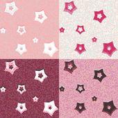 Stars and dots geometric seamless patterns — 图库矢量图片