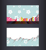 Business card layout. Editable design template. EPS10 vector, transparencies used. — Stock Vector