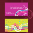 Business card layout. Editable design template — Stock Vector #35119331