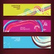 Set of horizontal banners, headers. Editable design template — Imagens vectoriais em stock