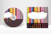 CD cover design template. EPS 10 vector, transparencies used — Stock Vector