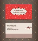 Diseño de tarjetas de visita. plantilla de diseño editable — Vector de stock