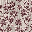 Vintage floral seamless pattern. Classic hand drawn roses — Stock Vector