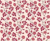 Vintage floral seamless pattern. Classic hand drawn roses — Cтоковый вектор