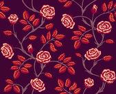 Vintage floral de patrones sin fisuras. clásico rosas dibujadas a mano — Vector de stock