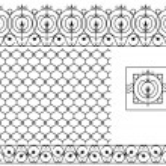 Seamless patterns set for wrought iron railing, grating, lattice — Stock Vector