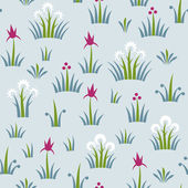 Seamless floral retro pattern of classic style — Stock Vector