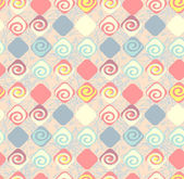 Geometric abstract seamless pattern motif background. Colorful s — Stock vektor