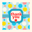 Thank you card design template — Stock Vector #51768287