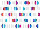 Fondo transparente geometrico — Vector de stock