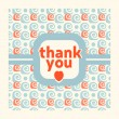 Thank you card design template — Stock Vector #51771459