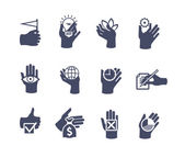 Hands icon set for website or application — Vector de stock