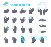 Hands icon set for website or application — Stock Vector