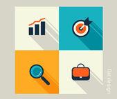 Conjunto de ícones de negócios — Vetor de Stock