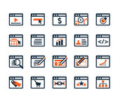 Icon set for web development and SEO — Stock Vector