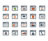 Icon set for web development and SEO — Stockvektor