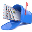 Stock Photo: Blue Mailbox with Mails