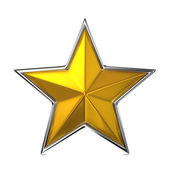 Golden Star, Reward Cocept. — Stock Photo