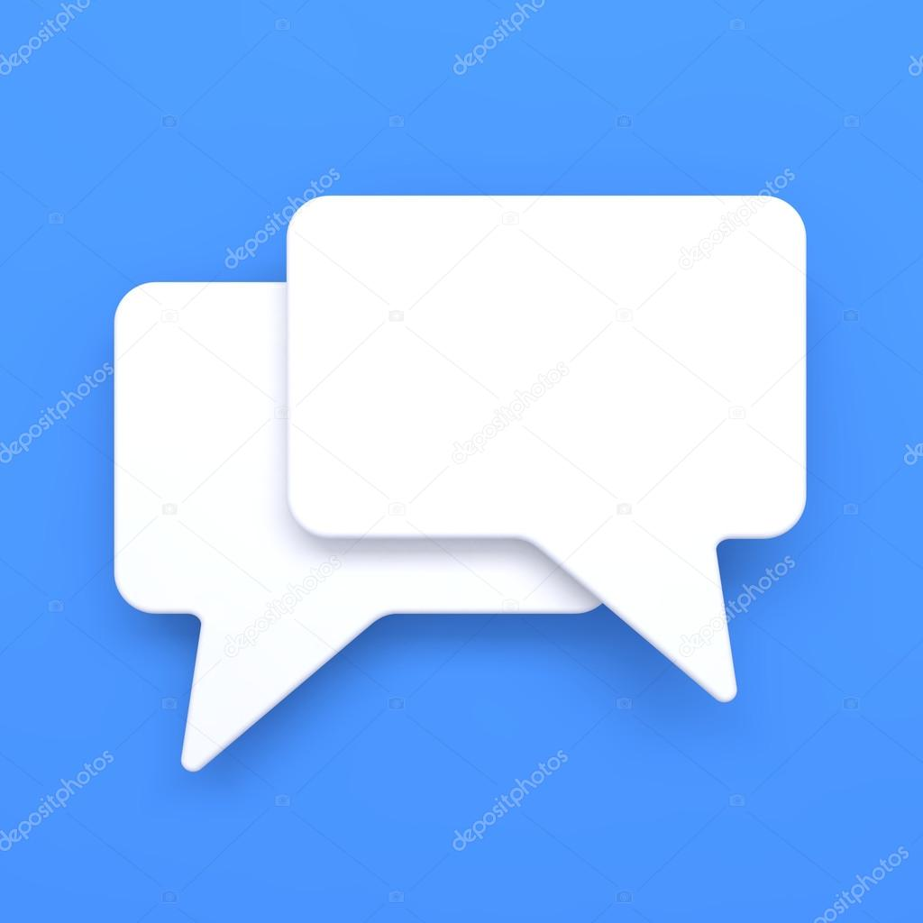 Blank Speech Bubble on Grey Background. Social Media Concept. — Stock Photo #13137937