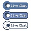 "Website Element: ""Live Chat"" — Stock Photo"