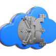 Cloud with Safe Door. Computing Concept. — Stock Photo