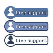 "Website Element: ""Live Support"" — Stock Photo"