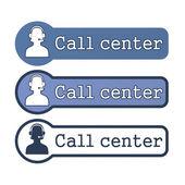 "Elemento web: ""call center"" — Foto de Stock"