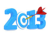 Next New Year whit Blue Target and Red Dart. — Stock Photo