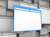 Fenêtre de travail bleu. — Photo