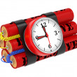 Dynamite Bomb with Clock Timer. — Stock Photo #13845823