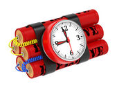 Dynamite Bomb with Clock Timer. — Stock Photo