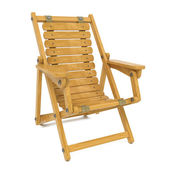 Deckchair on White Background. — Stock Photo