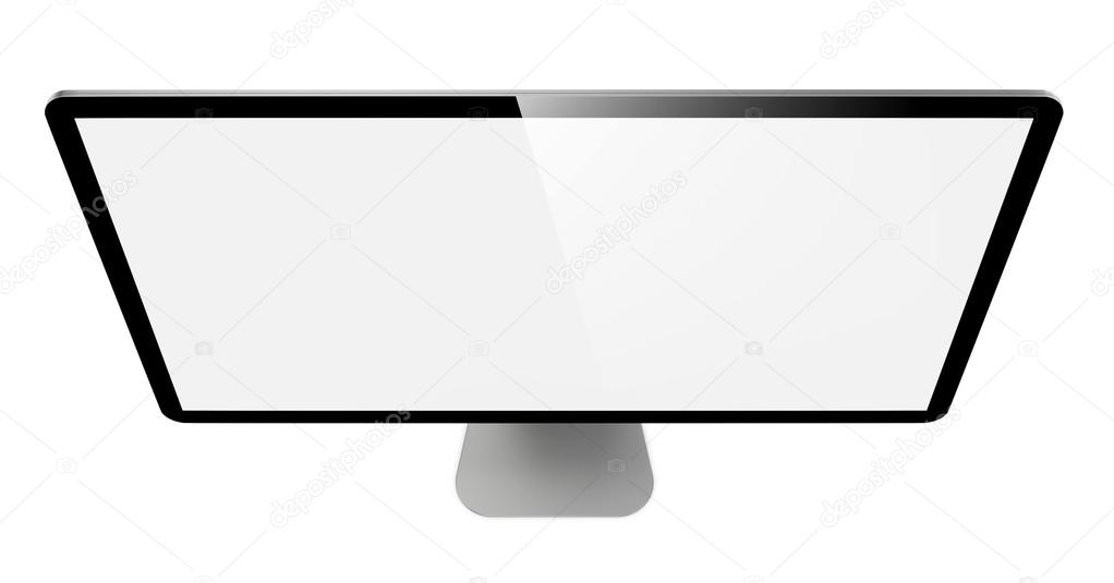 Modern Widescreen Lcd Monitor. On White Background. — Stock Photo #14047507