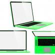 Set of Green Modern Laptops. — Stock Photo