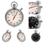 Stopwatch Set on White Background. — Stock Photo