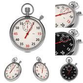 Stopwatch Set on White Background. — Stock Photo