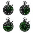 Stopwatch - Green Timers. Set on White. — Foto de Stock