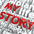 My Story - Text of Red Color. — Stock Photo