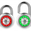 Combination Padlock Isolated on White. — Stock Photo