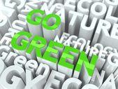 Go Green Concept. — Stock Photo