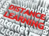 Concepto de aprendizaje de distancia. — Foto de Stock