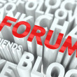 Forum Concept. — Stock Photo