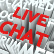 Stock Photo: Live Chat Concept.