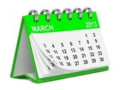 Green Desktop Calendar. — Stock Photo