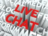 Live Chat Concept. — Stock Photo