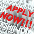 Apply Now Concept. - Foto de Stock