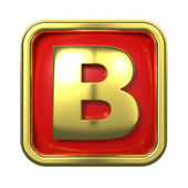 Gold Letter on Red Background. — Stock Photo