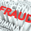 Fraud Background Conceptual Design. — Stock Photo